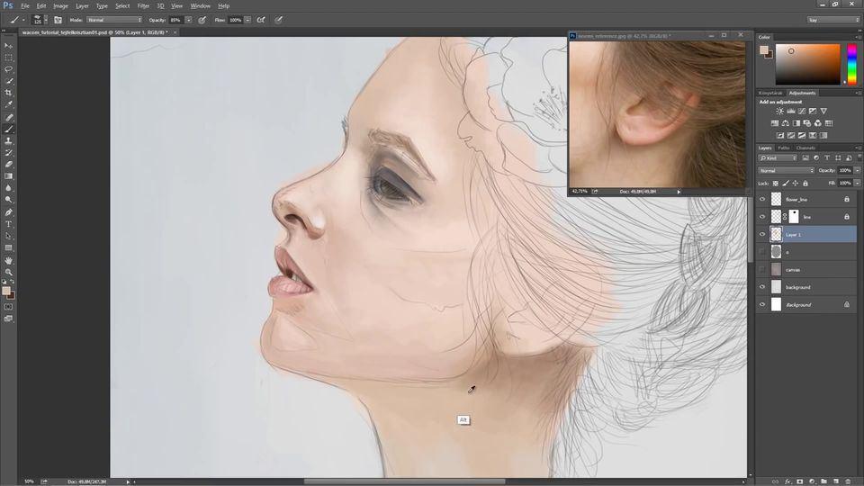 Digital-Portrait-Painting-of-a-Woman-4