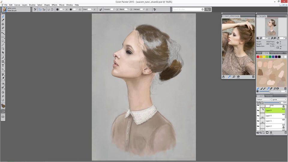Digital-Portrait-Painting-of-a-Woman-5