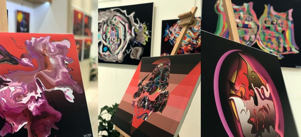 Ümit Solak grafik çalışmaları sergisinden (Ankara)